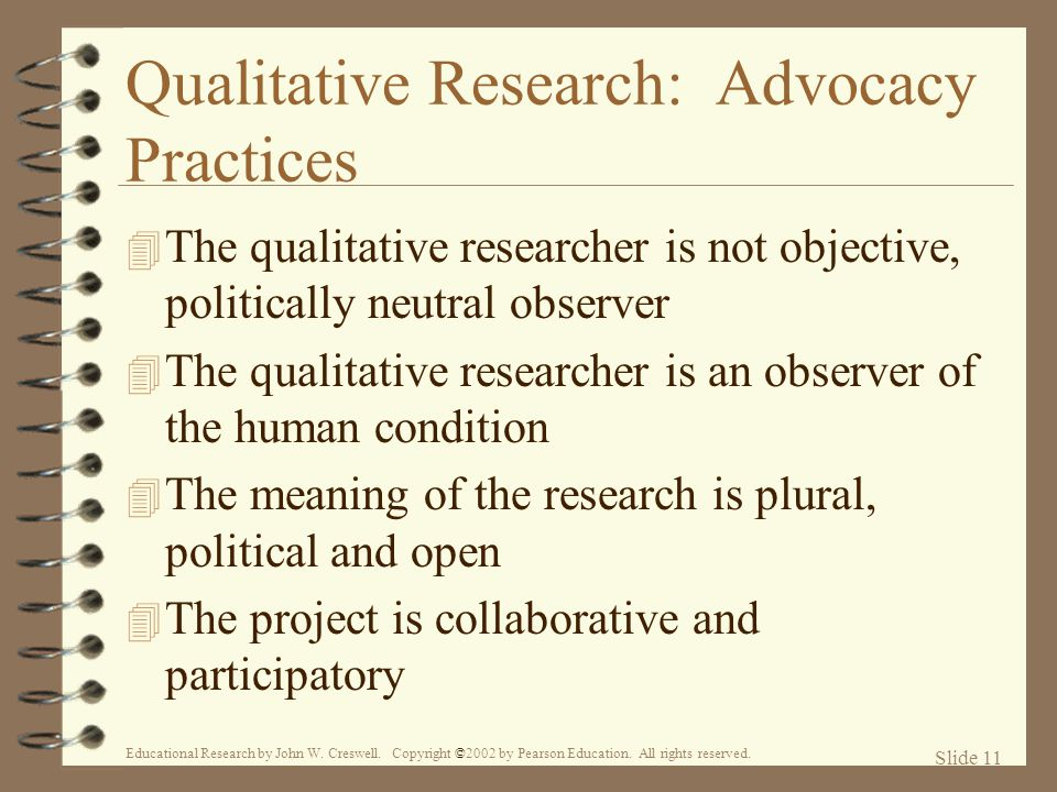 Qualitative Research: Advocacy Practices
