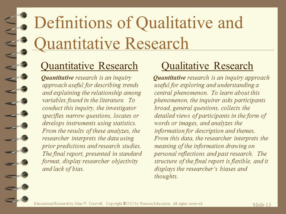 Definitions of Qualitative and Quantitative Research