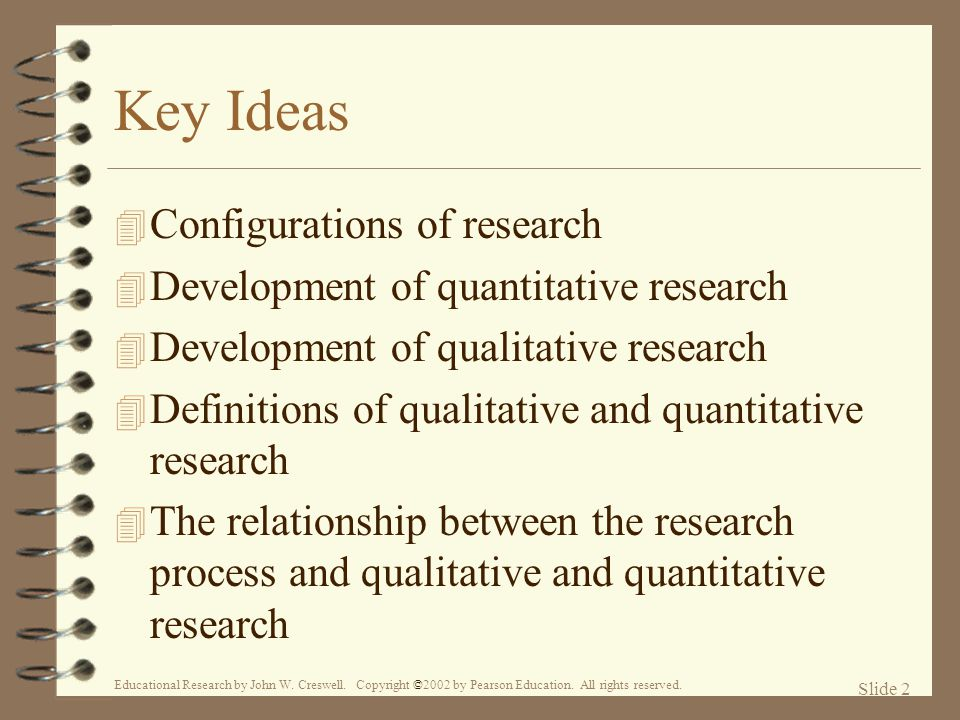 Key Ideas Configurations of research