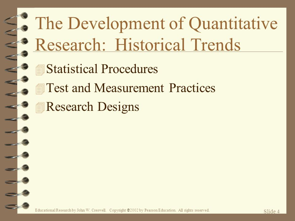 The Development of Quantitative Research: Historical Trends