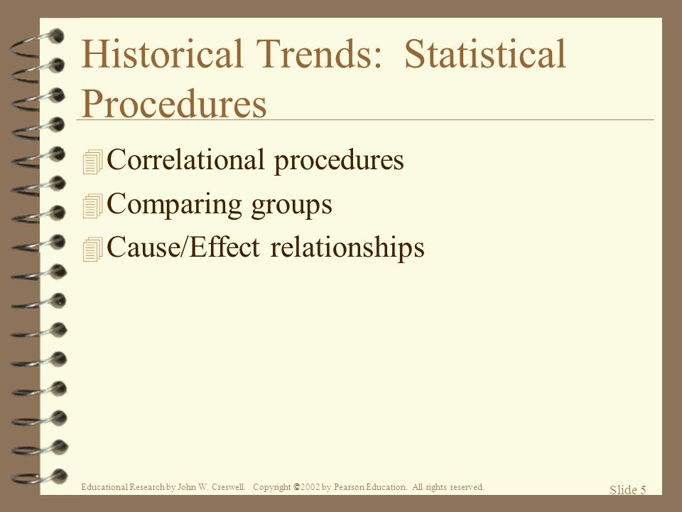 Historical Trends: Statistical Procedures