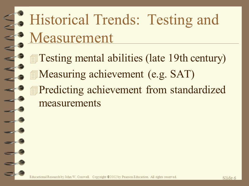 Historical Trends: Testing and Measurement