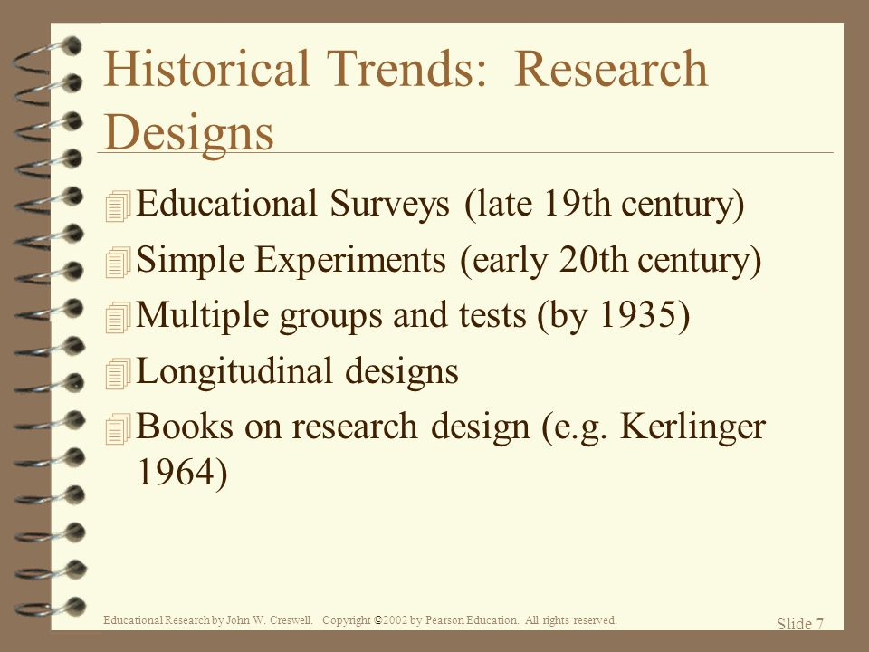 Historical Trends: Research Designs