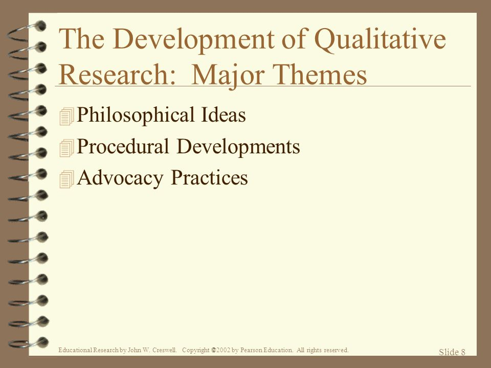 The Development of Qualitative Research: Major Themes