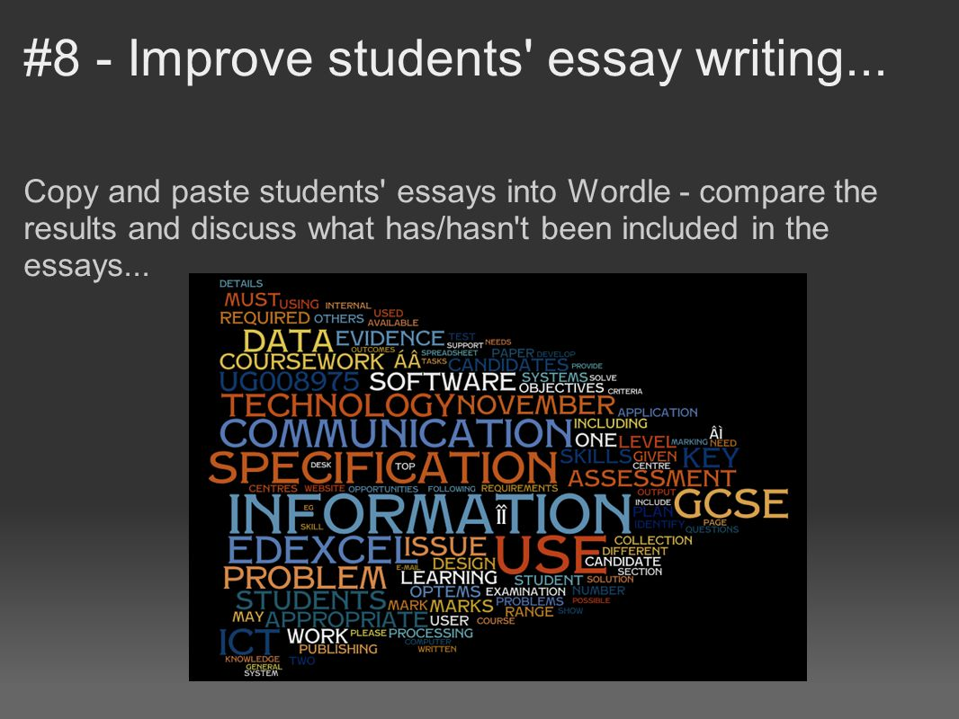 improving writing needs essay Overview of common writing problems of high school students writing help, plus links to online high school/college prep courses in grammar and essay writing.
