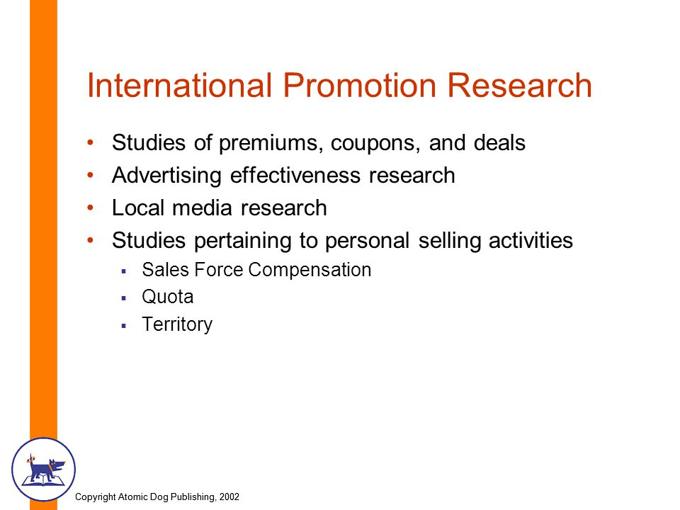 sales promotion research Marketing research helps the marketing manager link the marketing variables with the sales promotion etc segmentation research - to determine the.