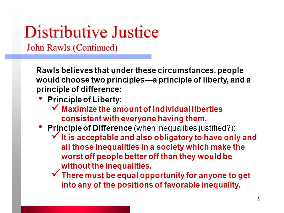 the question of distributive justice as described by robert nozick and john rawls Utilitarianism retributive justice distributive justice oppressive law justice as supreme virtue division of society sticking to one s station equality as the central question of justice john rawls and robert nozick on justice skip carousel carousel previous carousel next.