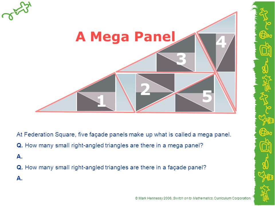 At Federation Square, five façade panels make up what is called a mega panel.