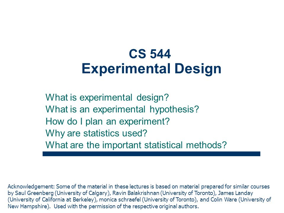 how to plan and design an experiment