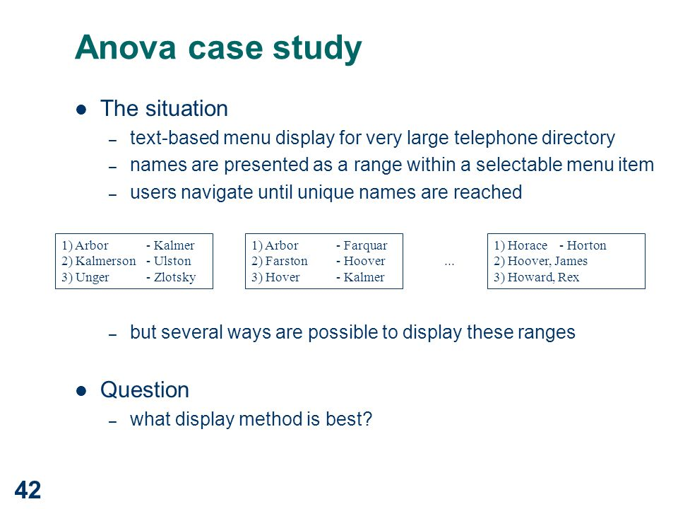Hypothesis Testing with One-Way ANOVA
