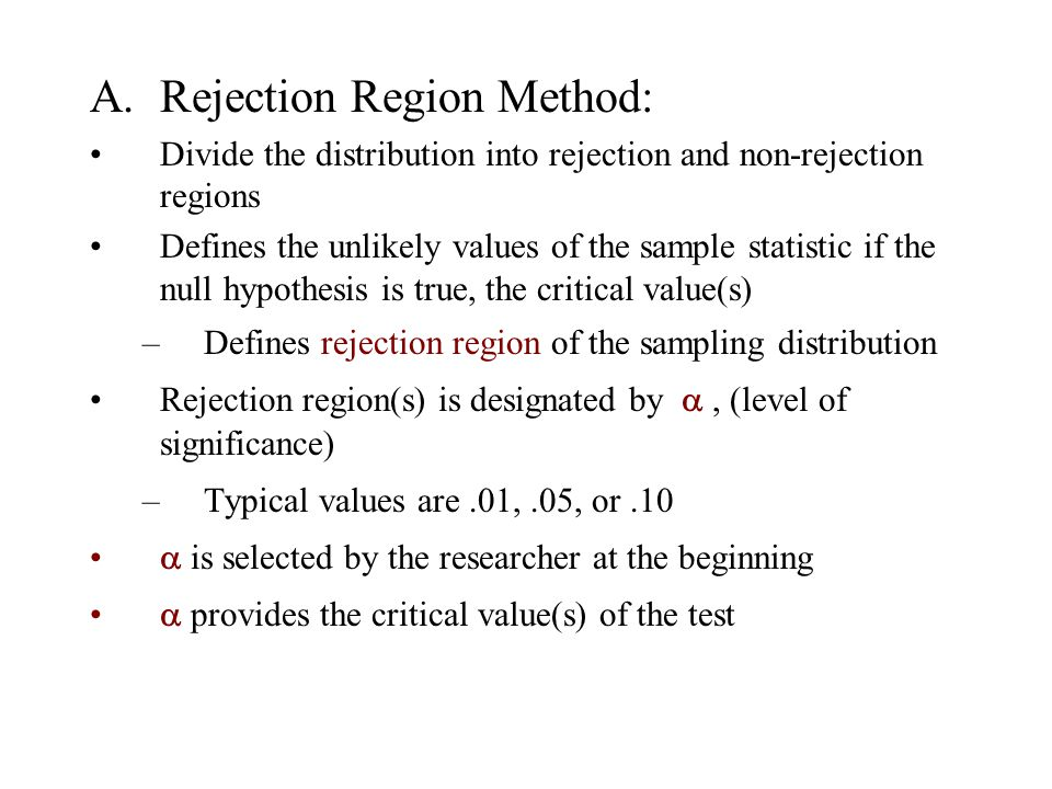 A. Rejection Region Method: