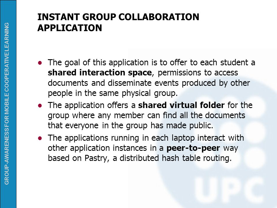 INSTANT GROUP COLLABORATION APPLICATION