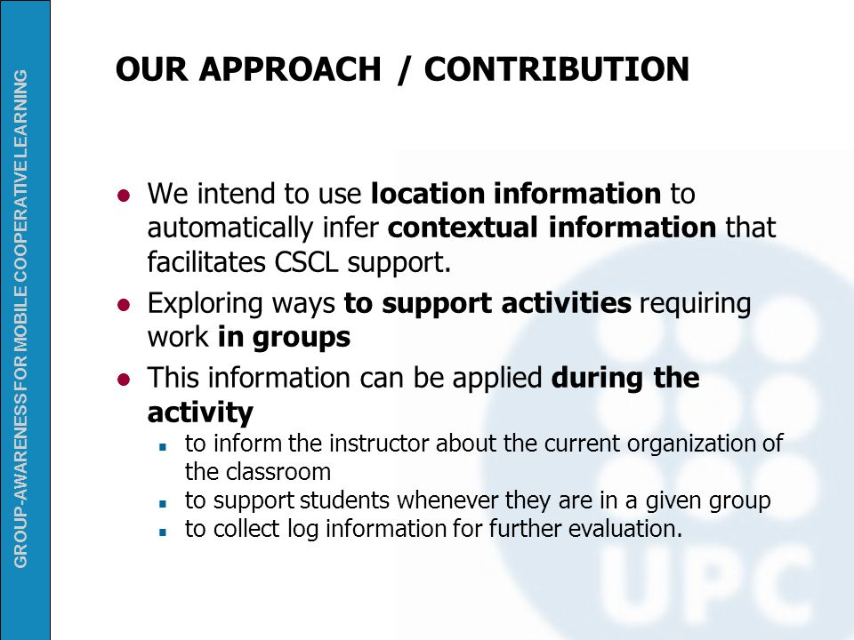 OUR APPROACH / CONTRIBUTION
