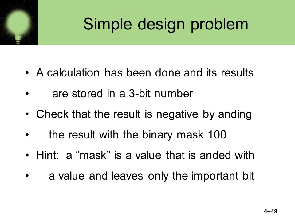 Simple design problem A calculation has been done and its results