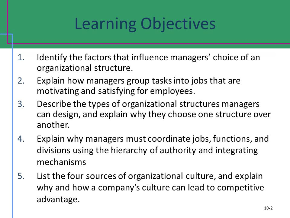 factors influence organization structure Factors to consider in organizational design  five environmental factors that can influence a company  an organizational structure that has emerged from newer.