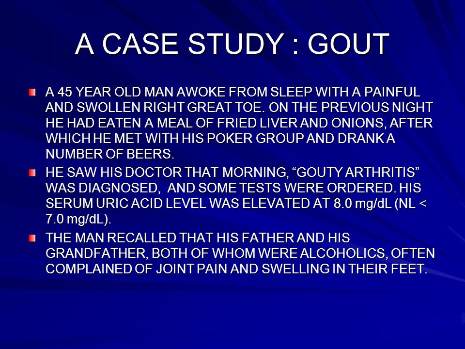 Case study- Gout | Biochemistry for Medics – Lecture Notes