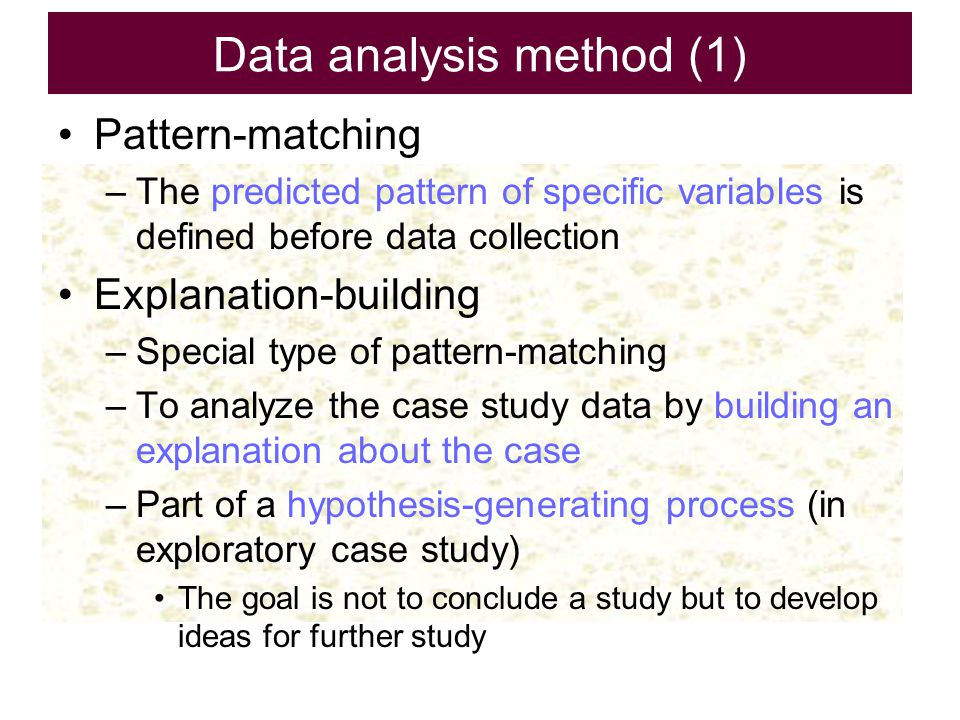 Data analysis method (1)