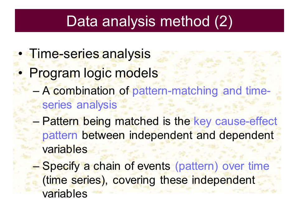 Data analysis method (2)