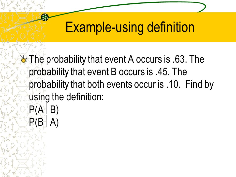 Example-using definition