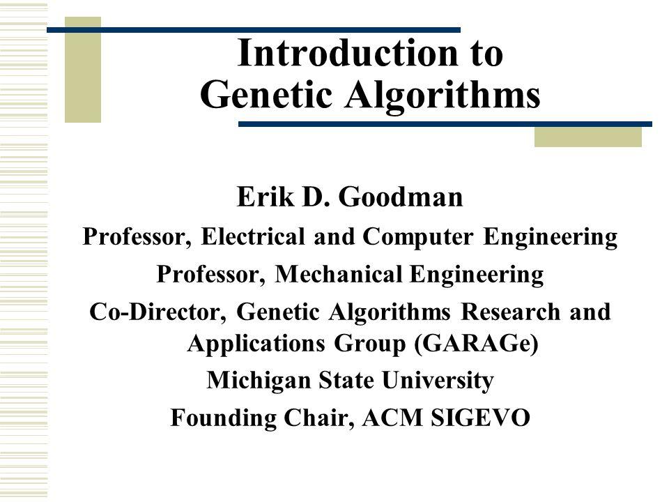 Binary options genetic algorithm