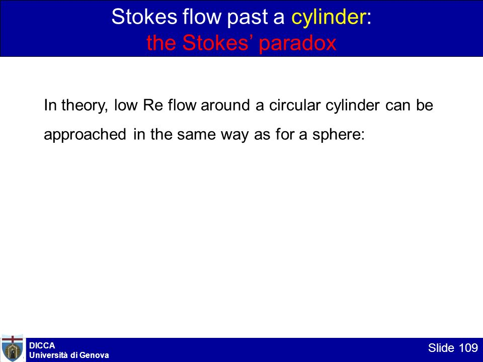 Stokes flow past a cylinder: the Stokes' paradox