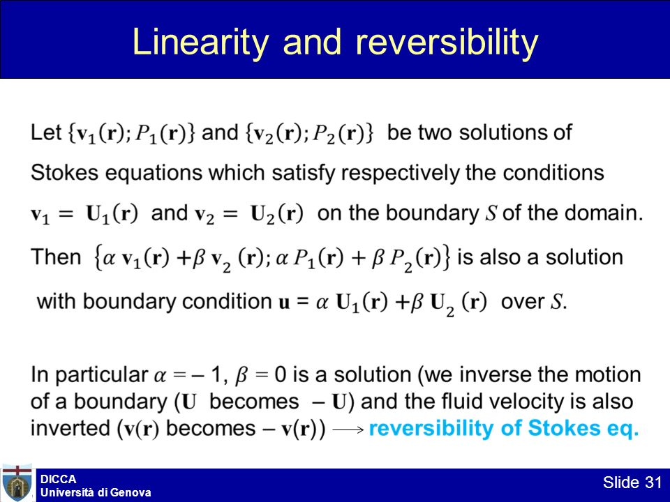 Linearity and reversibility