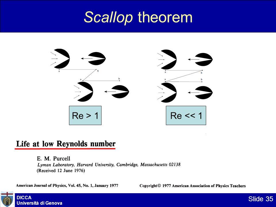 Scallop theorem Re > 1 Re << 1 DICCA Università di Genova