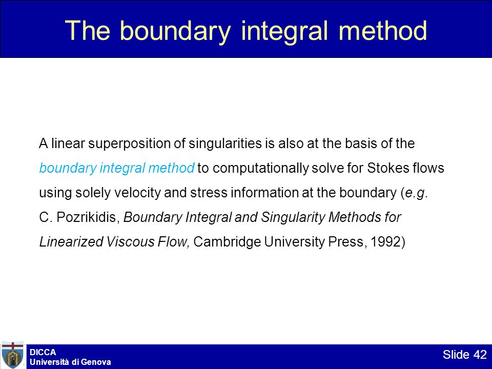 The boundary integral method