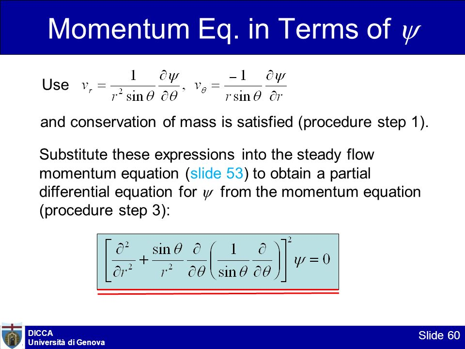 Momentum Eq. in Terms of 