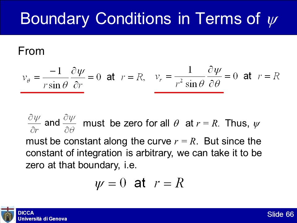 Boundary Conditions in Terms of 