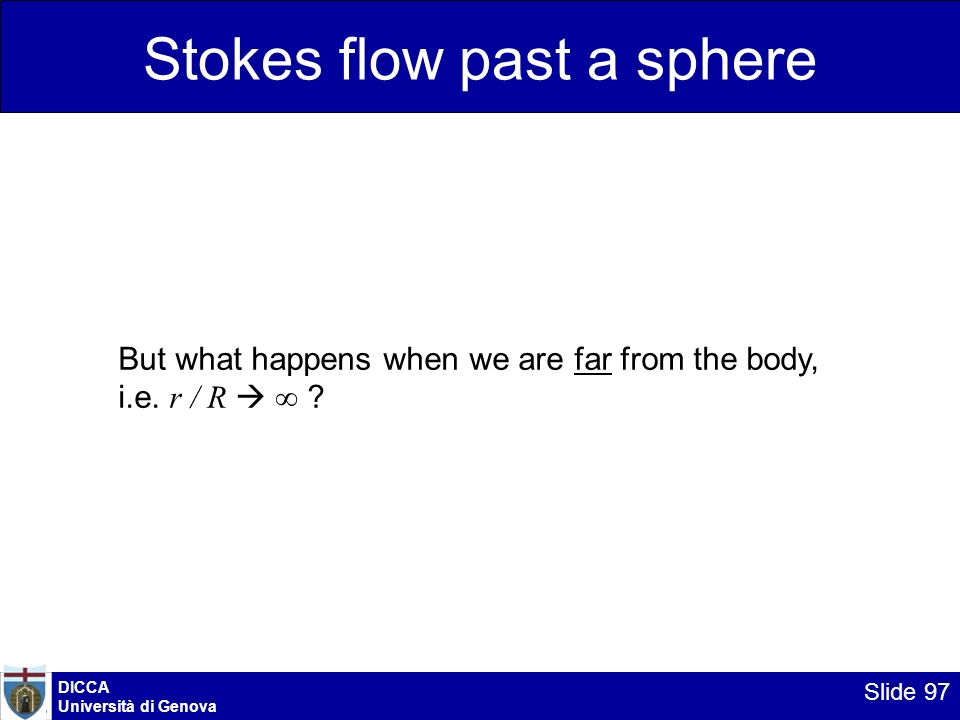 Stokes flow past a sphere