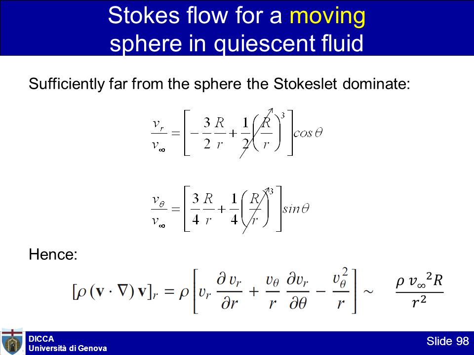 Stokes flow for a moving sphere in quiescent fluid