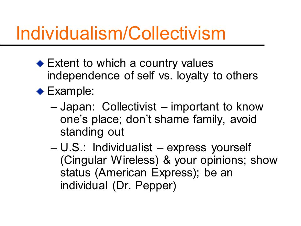 individualism for the reason that any national emotional price article