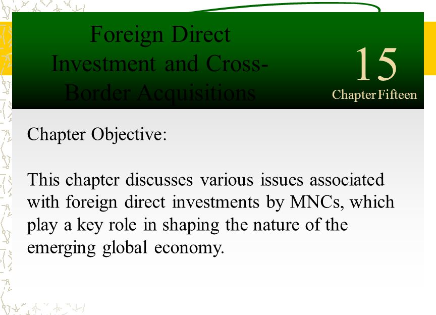 mnc and foreign direct investment in