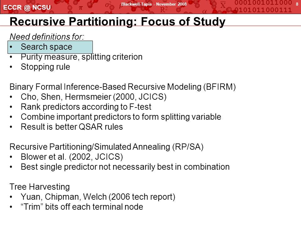 Recursive Partitioning: Focus of Study