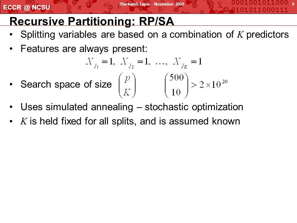 Recursive Partitioning: RP/SA