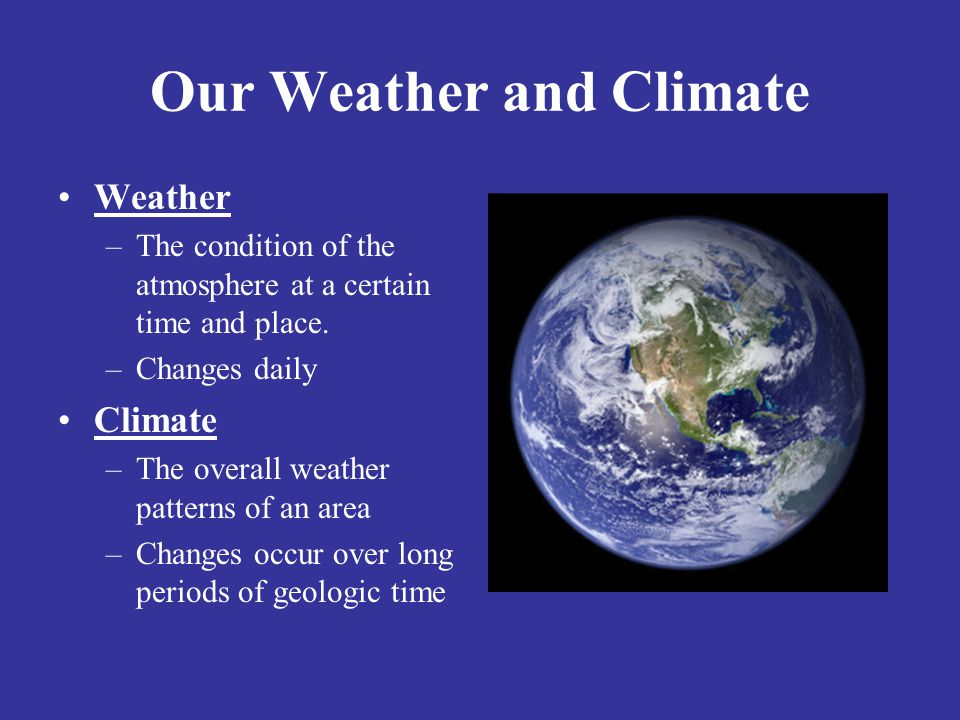 Our Weather and Climate