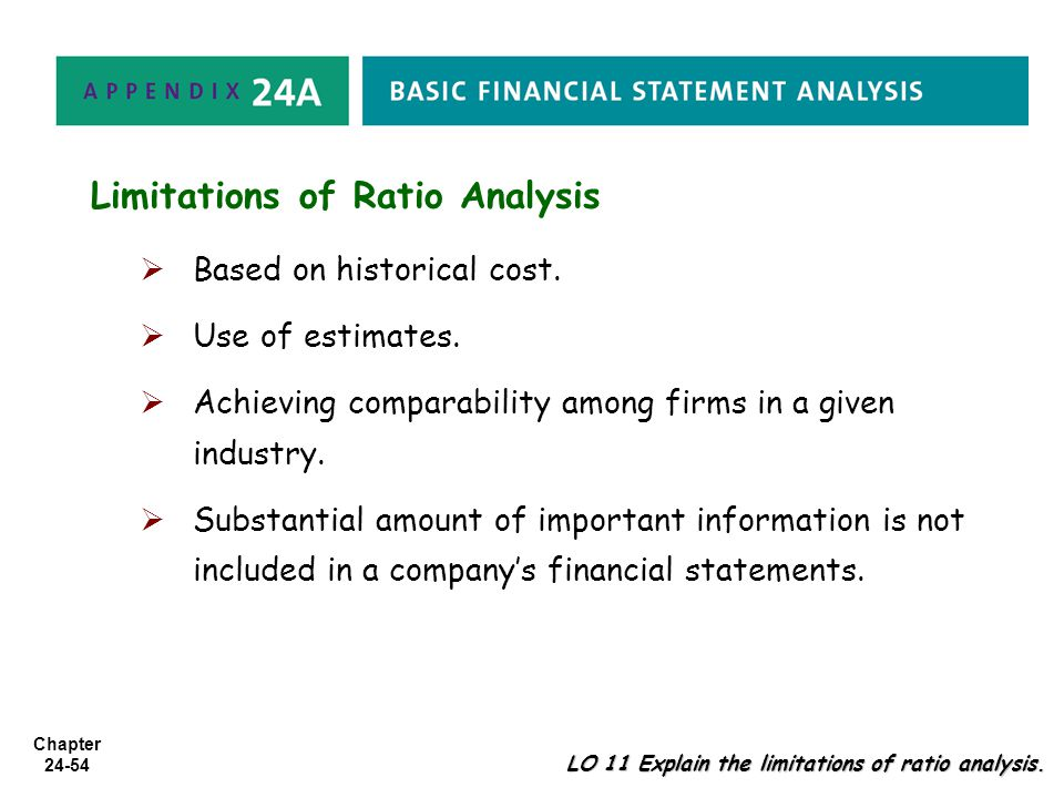 limitations of ratio analysis Advertisements: let us make an in-depth study of the meaning, advantages and limitations of ratio analysis meaning of ratio analysis: ratio analysis refers to the.