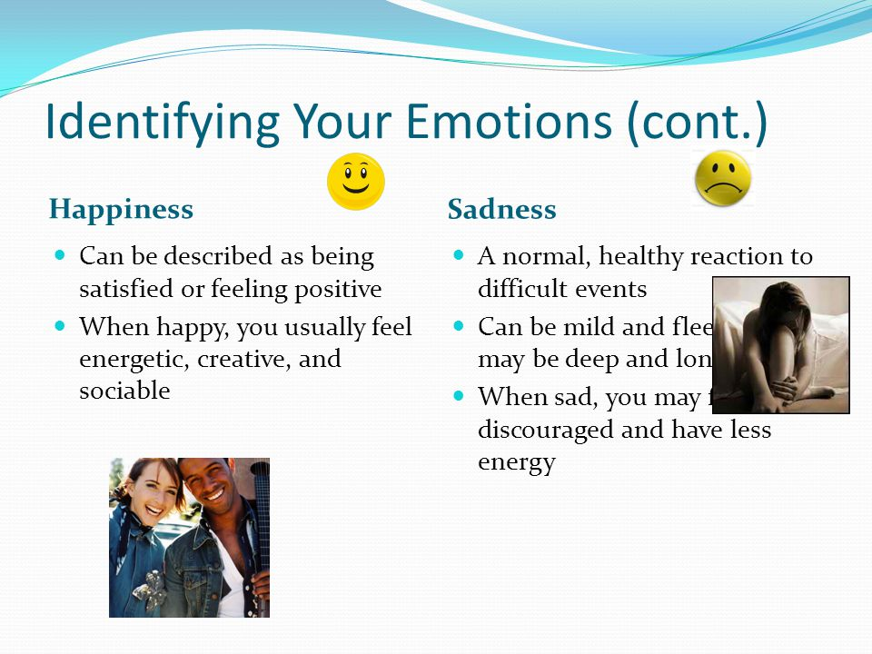 Identifying Your Emotions (cont.)