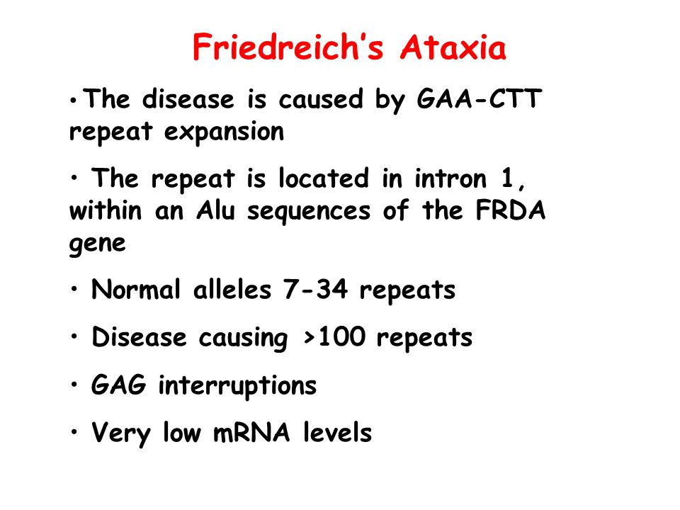 friedreichs ataxia