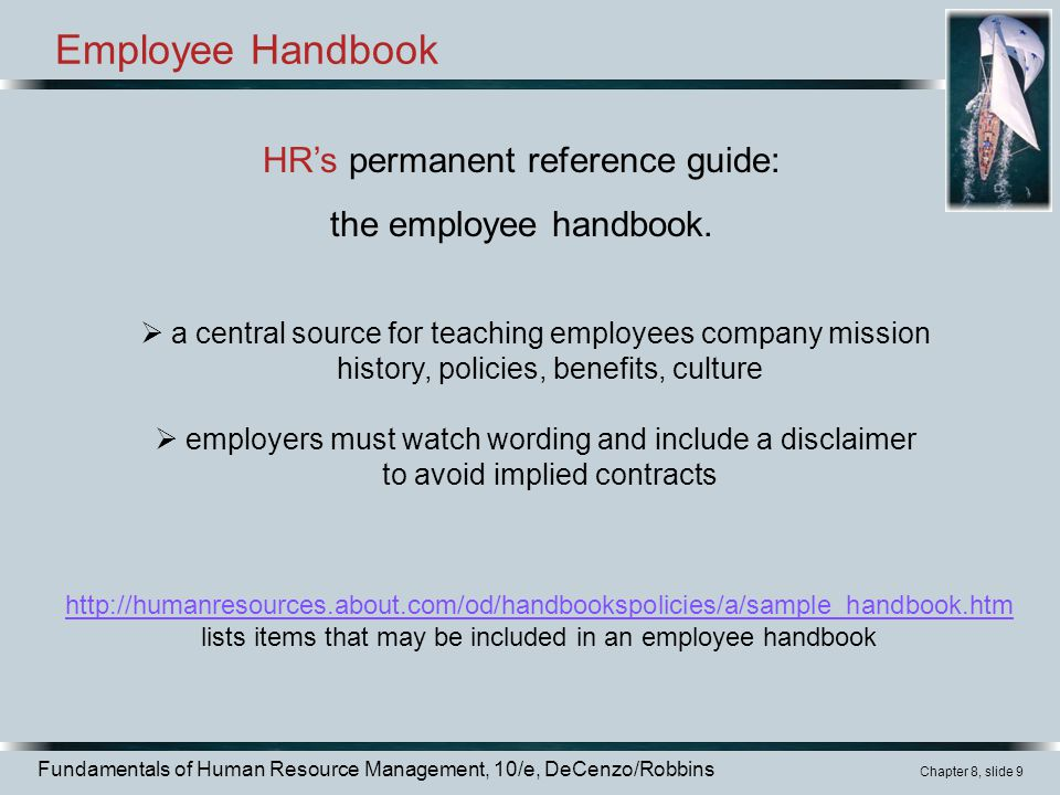 what is the purpose of an employee handbook