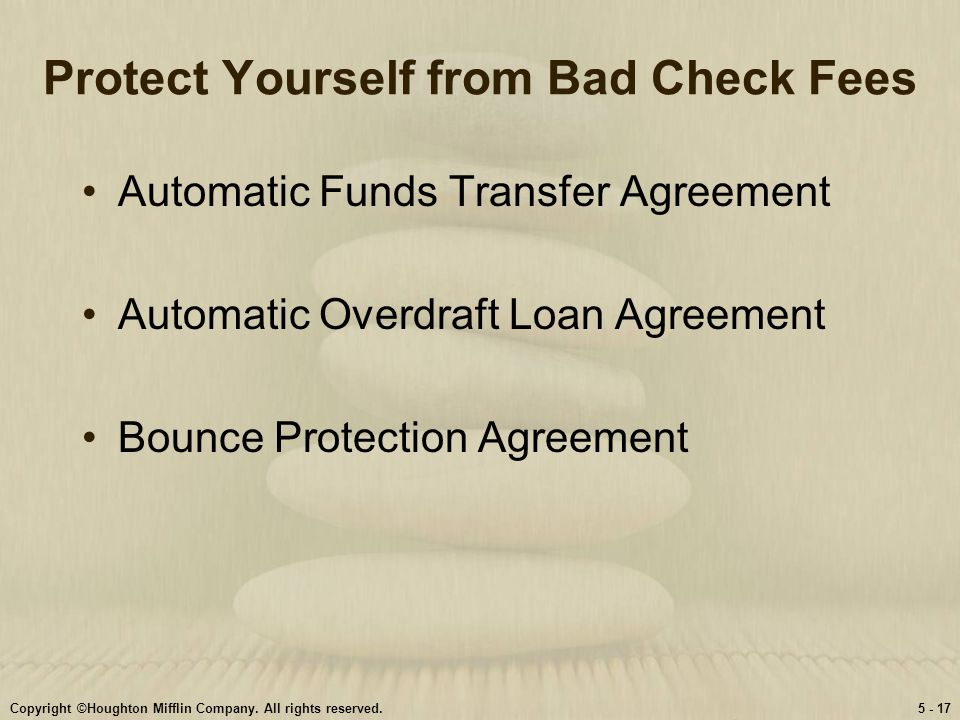 Personal finance garmanforgue ninth edition ppt video online download 17 protect yourself from bad check fees automatic funds transfer agreement platinumwayz