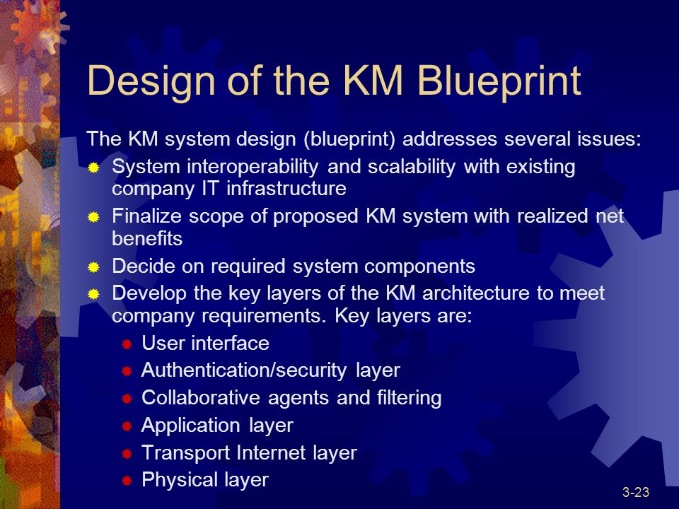 Knowledge management systems life cycle ppt download design of the km blueprint malvernweather Gallery