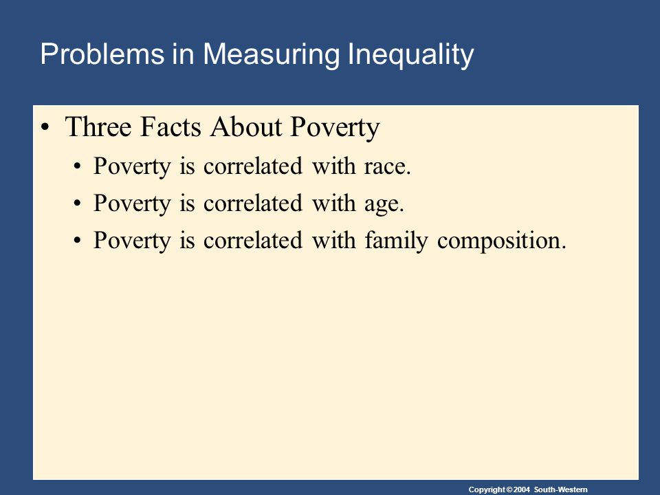 Problems in Measuring Inequality