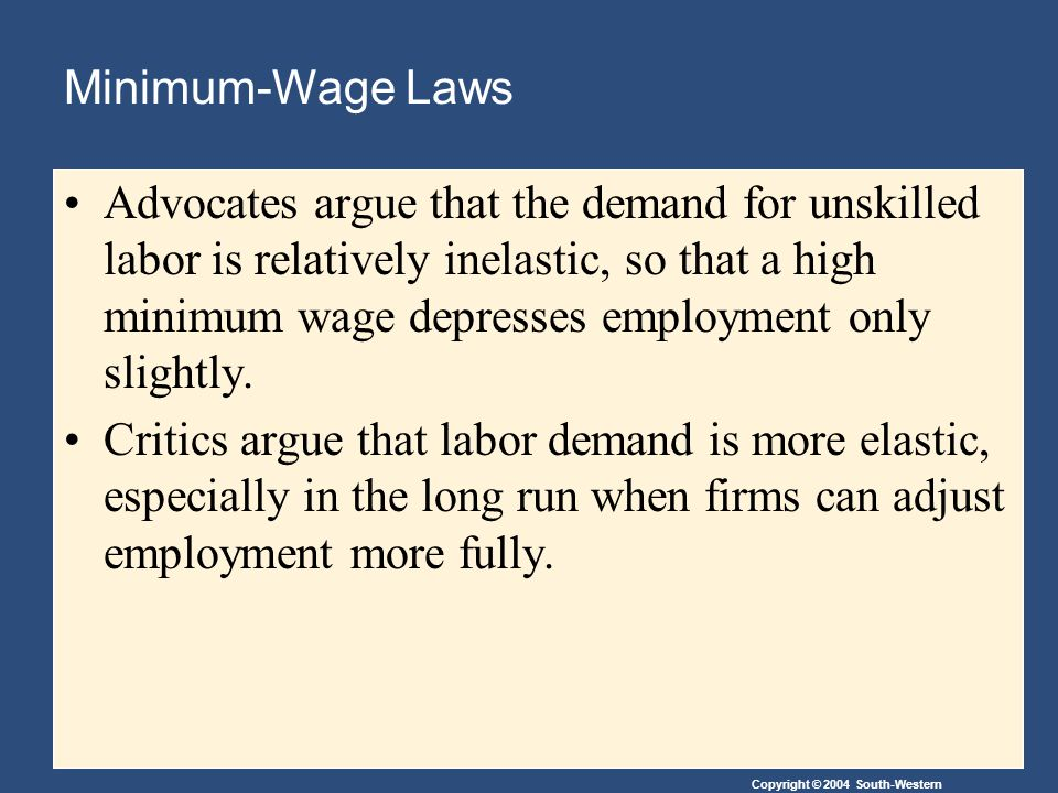 Minimum-Wage Laws