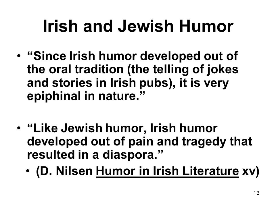 Irish and Jewish Humor