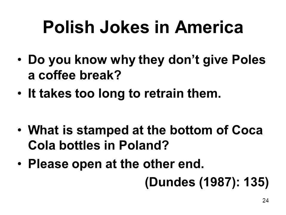 Polish Jokes in America