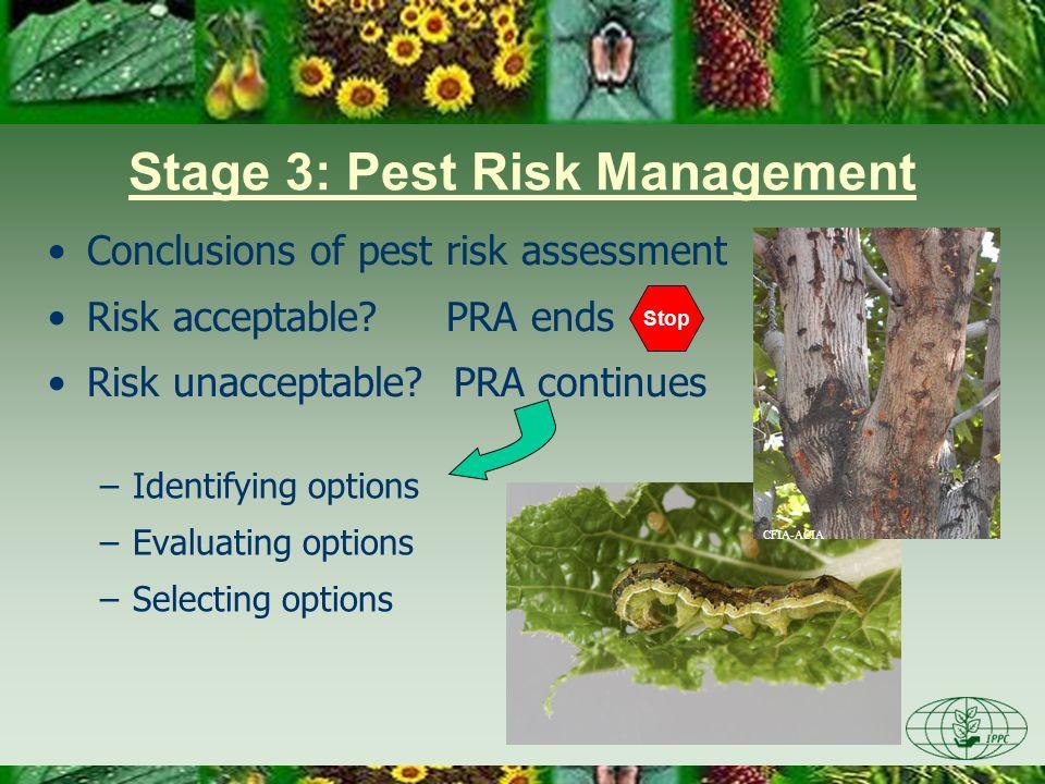 Stage 3: Pest Risk Management