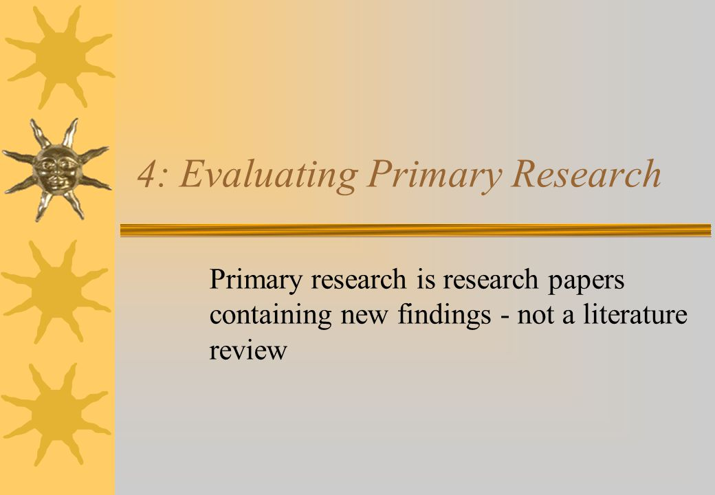 primary research papers Dr daping zhang, the executive editor of inorganic chemistry frontiers, kindly  invited me to contribute a short comment on how to write a primary research.