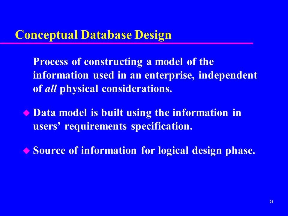 Conceptual Database Design